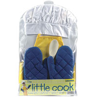 The Little Cook Set - Chef's Hat, Apron & Mitts