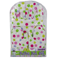 Kid's Polka Dots Chef's Hat, Apron & Mits