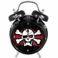 Skull Light Up Talking Alarm Clock