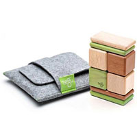 Tegu 8 piece Wooden Block Set with Pouch-Mahogany