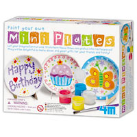 4M Paint Your Own Mini Plates