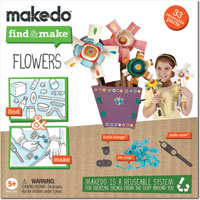 Makedo Find & Make Flowers - 33 pc