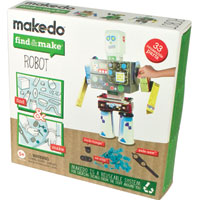 Makedo Find & Make Robot - 33 pc