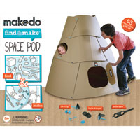 Makedo Find & Make Space Pod - 57 pc