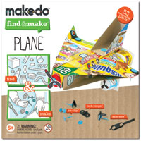 Makedo Find & Make Plane - 33 pc