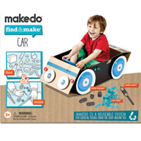 Makedo Find & Make Car - 57 pc