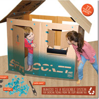 Makedo Find & Make Playhouse - 77 pc