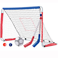 Kickback Soccer Goal & Pitch Back