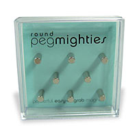 Round Peg Mighties Magnets - 8 Pack