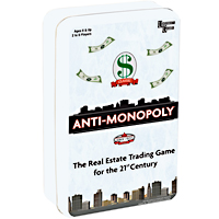 Anti-Monopoly Travel Tin Game