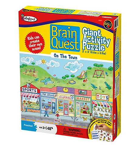 Brain Quest Colorforms Puzzle - 48 pc