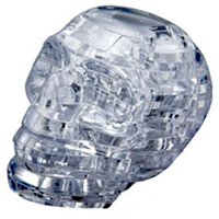 3D Crystal Puzzle - Clear Skull