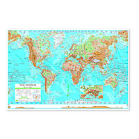 World Advanced Physical Map - Laminated