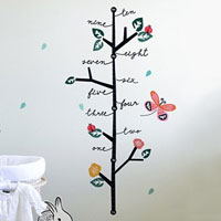 Growing Like a Weed Growth Chart Wall Decals