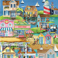 Pastime Puzzles Village By The Sea - 500 pc