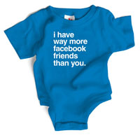 Wry Baby Snapsuit - Facebook Friends