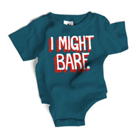 Wry Baby Snapsuit - I Might Barf