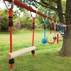 Slackers NinjaLine 36 Ft. Pro & Intro Combo Kit with 10 Obstacles