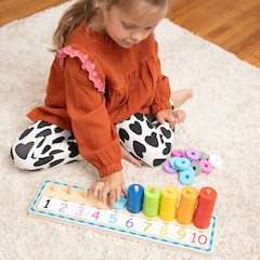 Count and Sort Stacking Tower