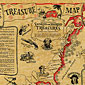 Treasure Map of Buried & Sunken Treasure Historical Document