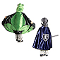 Reversible Hooded Frog/Prince Cape - Small