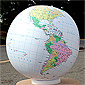 Inflatable Light Blue Political Globe - 12 inch