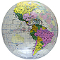 Inflatable Clear Political Globe - 16 inch