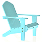 Doll Adirondack Chair - Blue