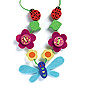 Djeco Flower & Dragonfly Wooden Beads