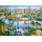 1000 pc Suitcases - Landmarks of the World