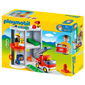 Playmobil 1,2,3 Take Along Fire Station