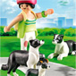 Playmobil Dog Breeds - Border Collies with Puppy