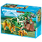 Playmobil Dinosaurs - Explorer and Triceratops with Baby