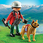 Playmobil Mountain Life - Mountain Rescuer with Search Dog