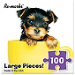 Puppy in Teacup Large Piece Puzzle - 100 pc