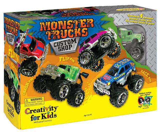 Monster Trucks Custom Shop Best Arts Crafts For Babies