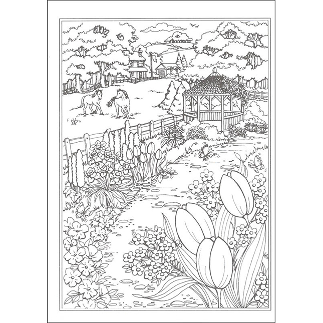 Creative Haven Spring Scenes Coloring Book - Best for Ages ...