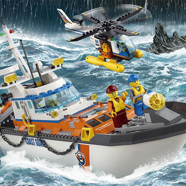 LEGO City Coast Guard Headquarters - - Fat Brain Toys