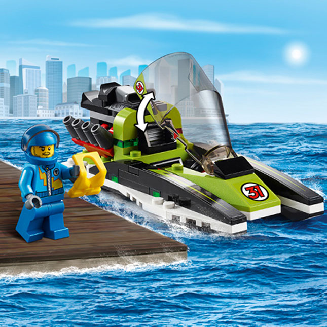 LEGO City - Race Boat - - Fat Brain Toys