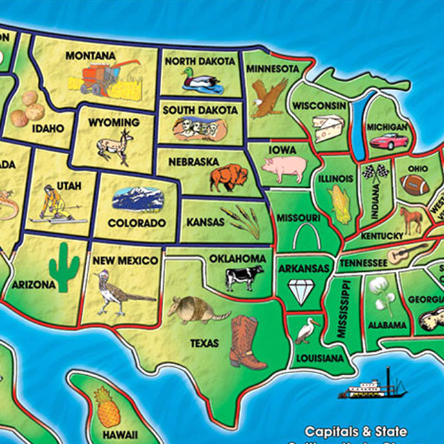 Usa Map Sound Puzzle: Usa Map Puzzle With Sound At Infoasik.co