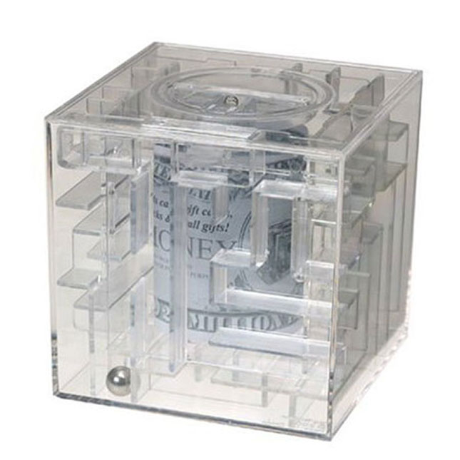Money maze bank for Maze coin bank