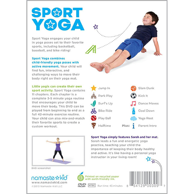 Namaste Kid Sport Yoga Dvd Best Active Play For Ages 3 To 8