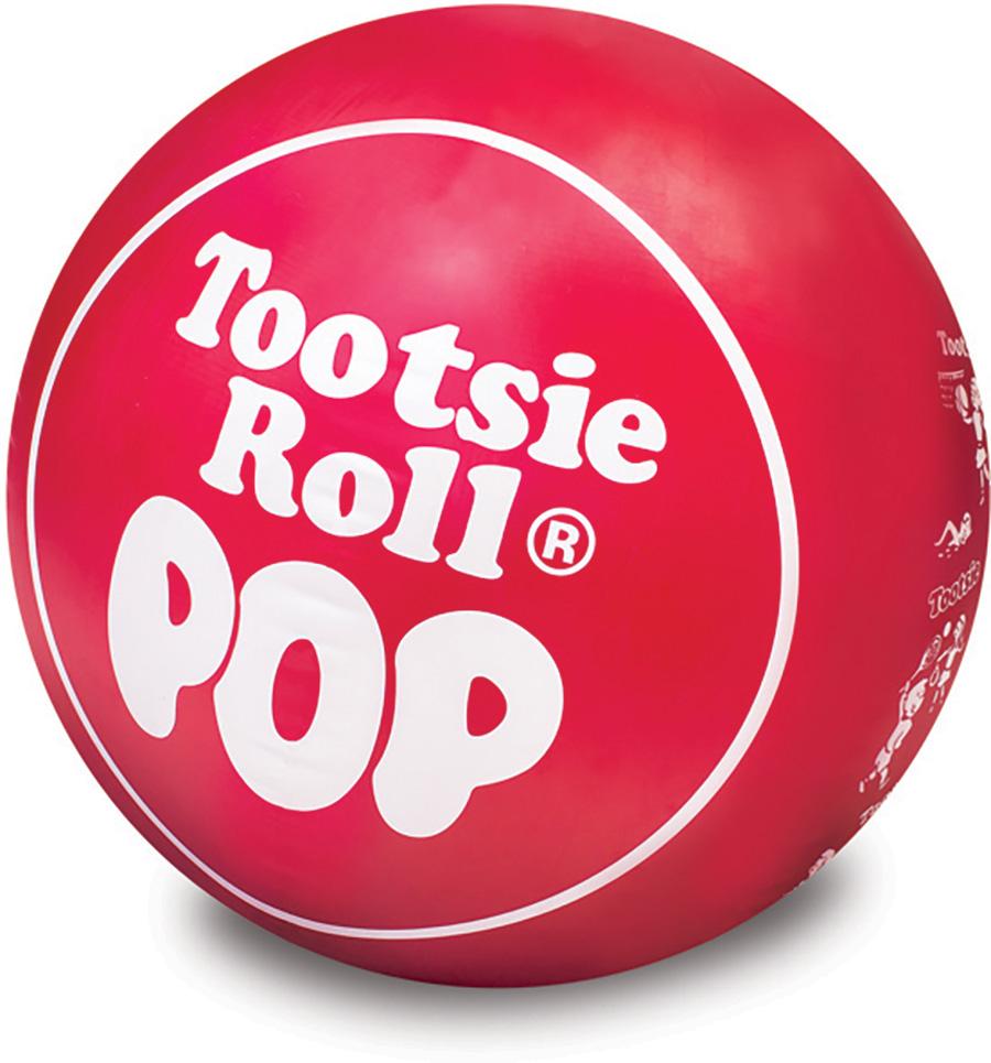 Red Tootsie Roll Pop Beach Ball - - Fat Brain Toys  Red Tootsie Pop