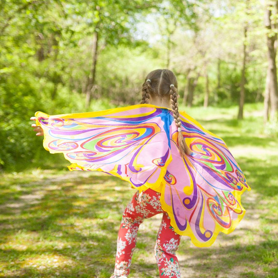 Dreamy dress ups rainbow fairy wings for Rainbow fairy door