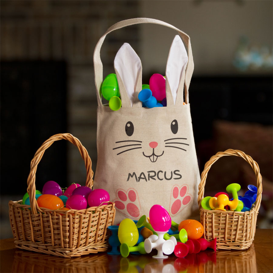 Personalized easter bag with ears negle Gallery