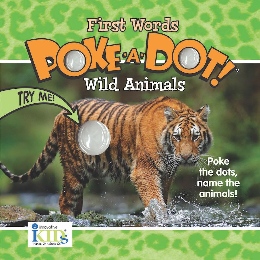 First Words Poke A Dot Wild Animals Fat Brain Toys