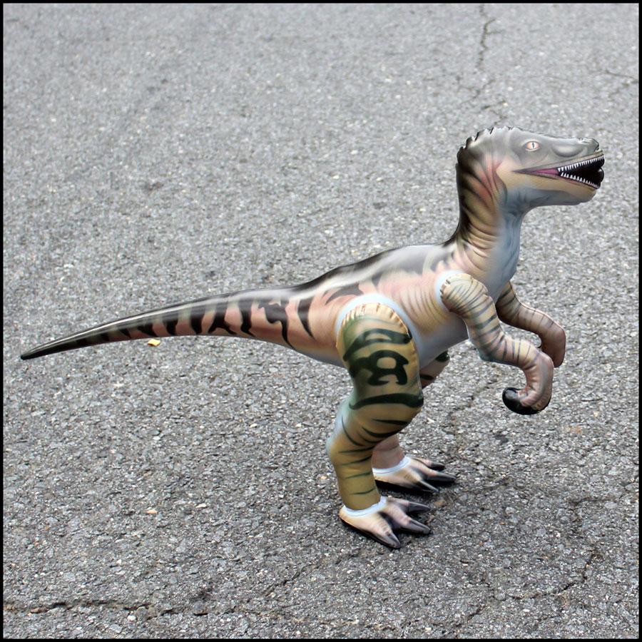 Dinosaurs Mdf Toy Box Childrens Storage Toys Games Books: Inflatable Velociraptor