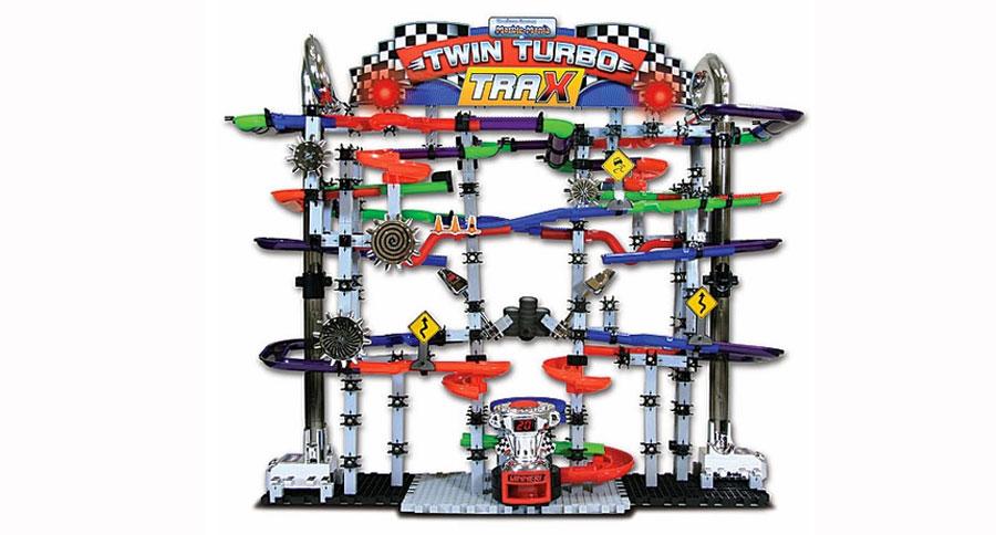 Techno Gears Marble Mania Twin Turbo Trax Fat Brain Toys