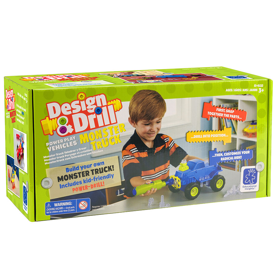 Design Drill Power Play Vehicles Monster Truck