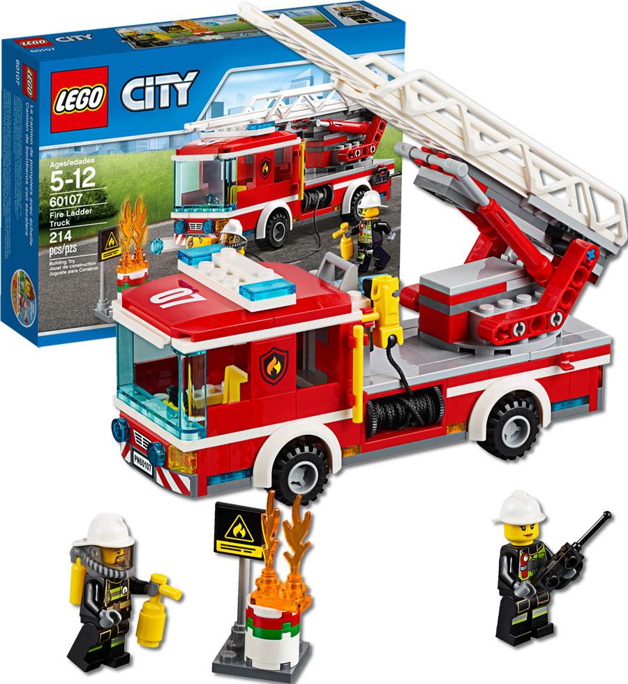 Lego City Fire Fire Ladder Truck Fat Brain Toys